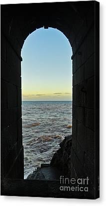 Doorway To The Sea Canvas Print by Nabucodonosor Perez