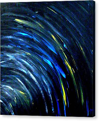 Canvas Print featuring the painting Doppler by Monica Furlow