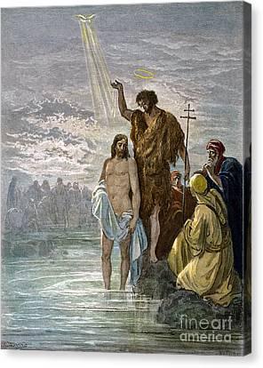 Dor�: Baptism Of Jesus Canvas Print by Granger