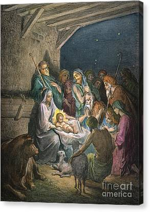 Dor�: The Nativity Canvas Print by Granger