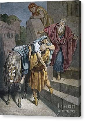 Dore: Good Samaritan Canvas Print by Granger