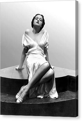 Dorothy Lamour, 18 Years Old, 1933 Canvas Print by Everett