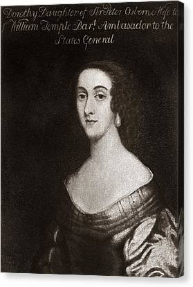 Dorothy Osborne, English Letter Writer Canvas Print by Middle Temple Library
