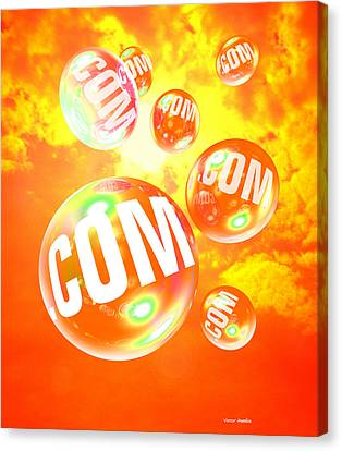 Dot Com Bubbles Canvas Print by Victor Habbick Visions