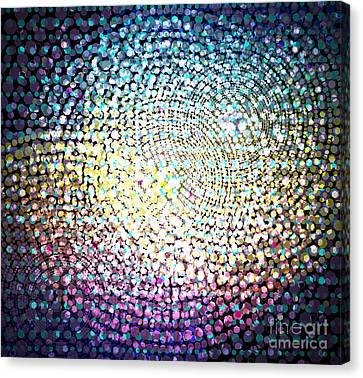 Dots Colors Canvas Print by Atiketta Sangasaeng