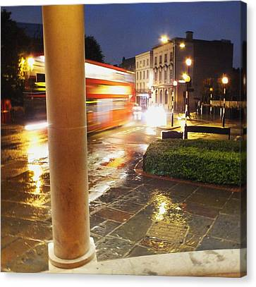 Canvas Print - Double Decker Blur In The Rain by Anna Villarreal Garbis