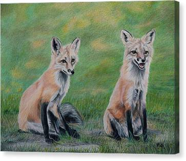 Double Trouble Canvas Print by Vicky Path