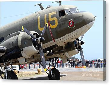 Douglas C47 Skytrain Military Aircraft 7d15774 Canvas Print by Wingsdomain Art and Photography