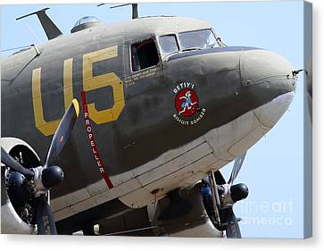 Douglas C47 Skytrain Military Aircraft 7d15776 Canvas Print by Wingsdomain Art and Photography