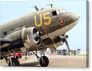 Douglas C47 Skytrain Military Aircraft . Spinning Propellers 7d157838 Canvas Print by Wingsdomain Art and Photography
