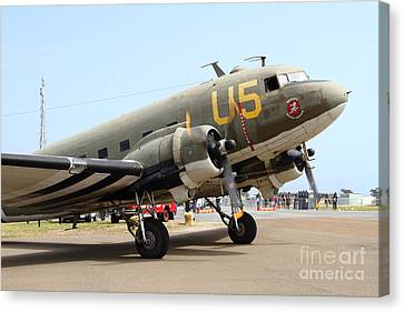 Douglas C47 Skytrain Military Aircraft . Spinning Propellers 7d157840 Canvas Print by Wingsdomain Art and Photography