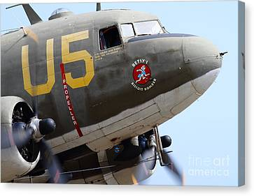 Douglas C47 Skytrain Military Aircraft . Spinning Propellers 7d157841 Canvas Print by Wingsdomain Art and Photography