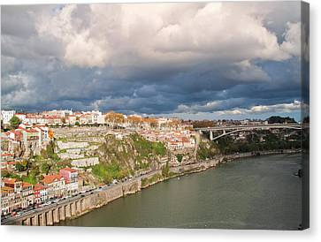 Iberian Canvas Print - Douro River And Old Town Of Porto by Harri's Photography