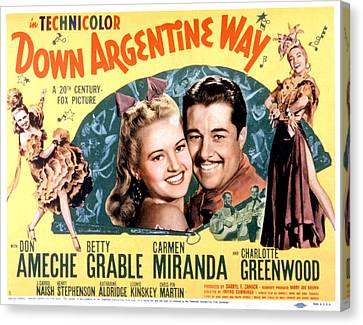 Down Argentine Way, Betty Grable, Don Canvas Print by Everett