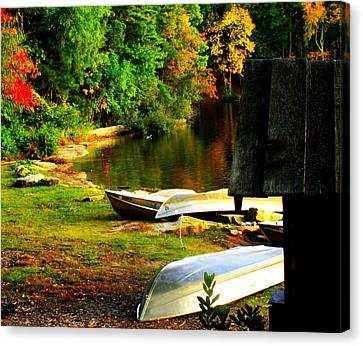 Down By The Riverside Canvas Print by Karen Wiles
