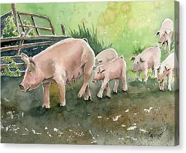 Down On The Farm Canvas Print by Marsha Elliott