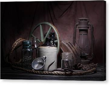 Down On The Farm Still Life Canvas Print by Tom Mc Nemar