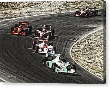 Down The Raceway Canvas Print by Donna Blackhall