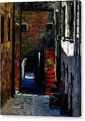 Down The Street Canvas Print by Steve K