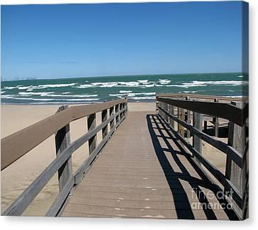 Down To The Beach Canvas Print by Cedric Hampton