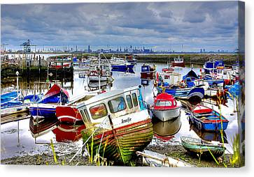 Paddys Hole Canvas Print - Down With The Boats by Trevor Kersley