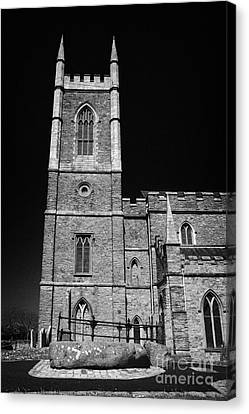 Downpatrick Down Church Of Ireland Cathedral St Patricks Grave Canvas Print by Joe Fox