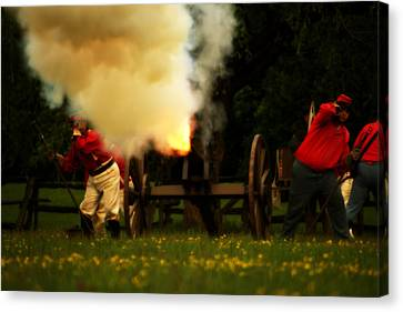Downrange Of The Cannon Canvas Print by Jonathan Bateman