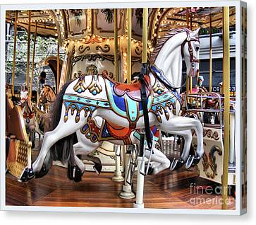Downtown Carousel Canvas Print