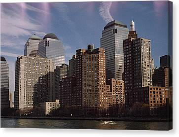 Downtown Financial District Canvas Print by Justin Guariglia