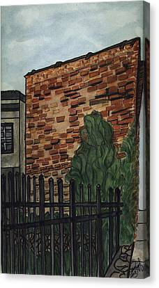 Canvas Print featuring the painting Downtown Greer by Joan Zepf