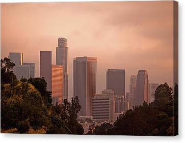 Downtown Los Angeles Canvas Print by Andrew Kennelly