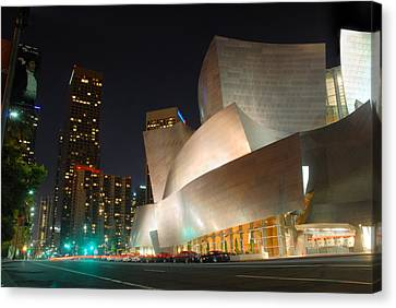 Downtown Los Angeles Canvas Print by Dung Ma