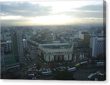 Downtown Nairobi, Kenya Canvas Print by Stephen Alvarez