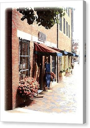 Downtown Newburyport Canvas Print