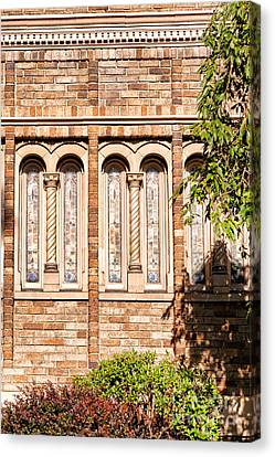 Downtown Northampton - Church Canvas Print by HD Connelly