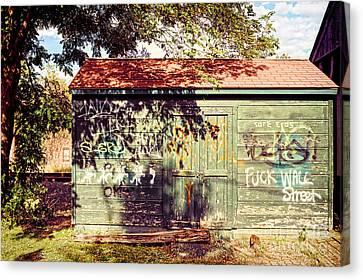 Downtown Northampton - Graffiti Canvas Print