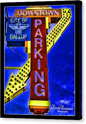 Canvas Print featuring the photograph Downtown Parking by Linda Constant