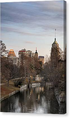 Downtown San Antonio, Texas Canvas Print by Carol Wood