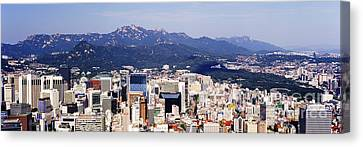 Downtown Seoul Skyline Canvas Print by Jeremy Woodhouse