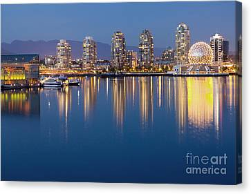 Downtown Vancouver Across The Water Canvas Print by Bryan Mullennix