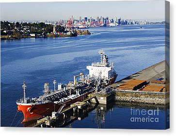 Downtown Vancouver Seen From Dockside Canvas Print by Jeremy Woodhouse