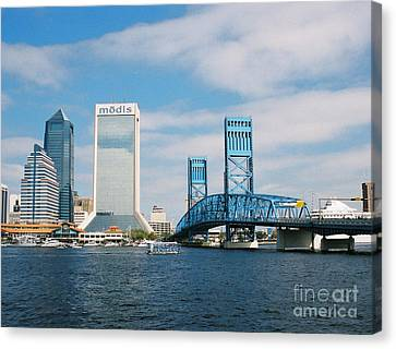 Dowtown Jacksonville Canvas Print by Clint Day