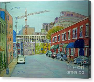Doyle Street Halifax Canvas Print by Rae  Smith PSC