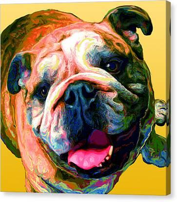 Dog Portrait Canvas Print - Dozer by Tammy Berk