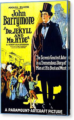 Dr. Jekyll And Mr. Hyde, Right John Canvas Print by Everett