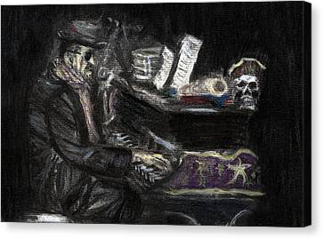 Dr. John In Charcoal And Pastel Canvas Print