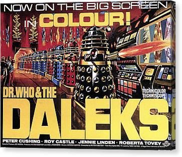 Dr. Who And The Daleks, Poster, 1965 Canvas Print by Everett