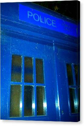 Dr Who Tardis Canvas Print by Julie Butterworth