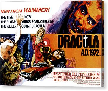 Horror Car Canvas Print - Dracula A.d. 1972, Stephanie Beacham by Everett