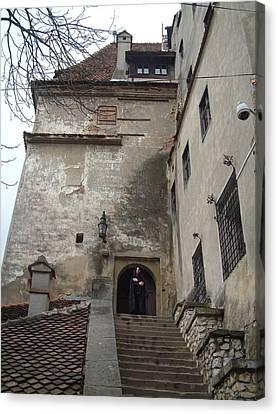 Dracula Castle Bran Transylvania Canvas Print by Mircea Veleanu